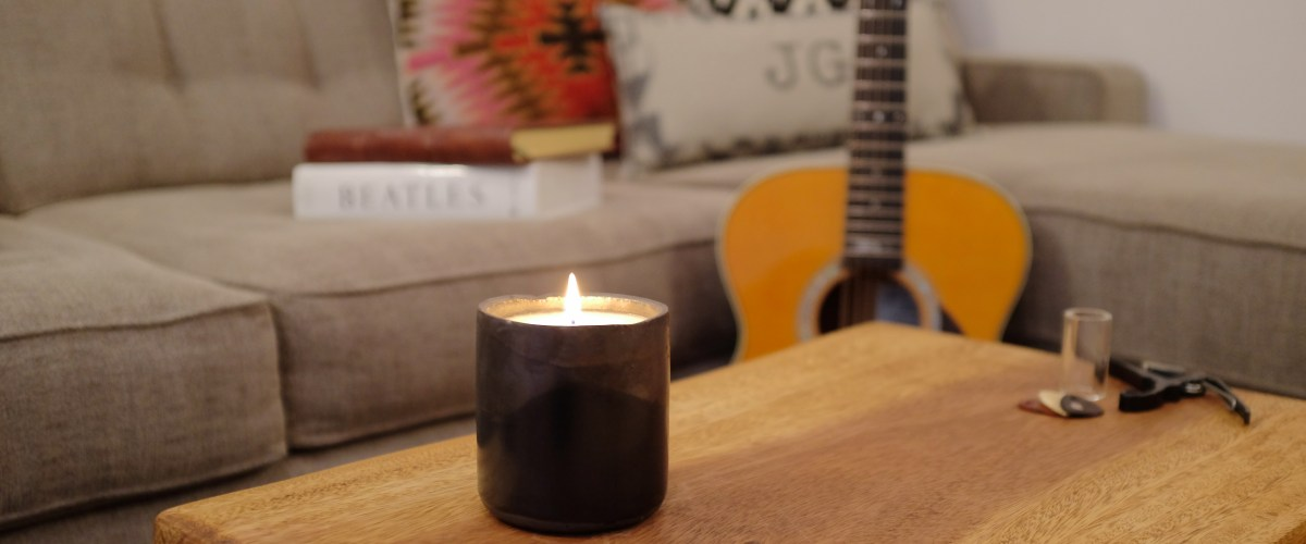 Black Ceramic DUO Candle by Love Nature NYC and JG & CO.