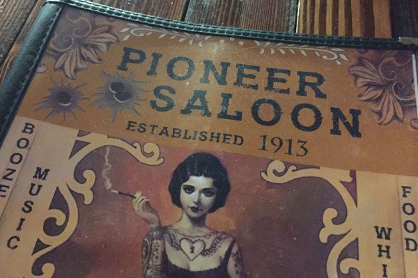 Pioneer Saloon, established 1913
