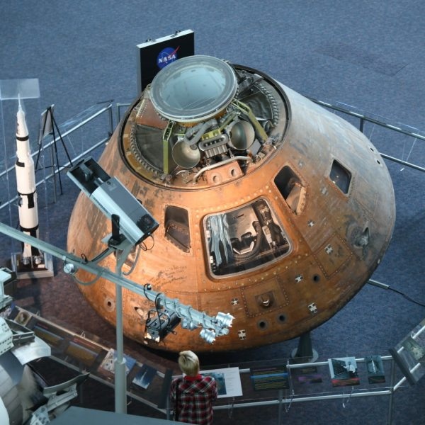 Apollo capsule on display at VASC