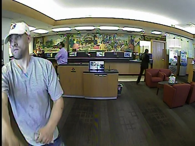 The Stoneham Police Department arrested a man allegedly involved in a Bank of America robbery last month. An image, which helped identify the suspect, was provided from the bank's surveillance camera. (Courtesy Photo)