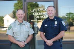 Lee County Sheriff John Simoton (left) and Dixon Police Chief Dan Langloss (right). (Courtesy Photo)