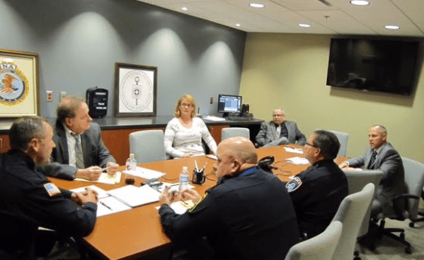 Police in Lee and Whiteside Counties met to discuss how to help those suffering with addiction during a Law Enforcement Opioid Summit. (Courtesy Photo)