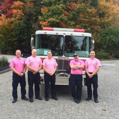 Left to right: Firefighter Nick Bruno, Firefighter Brian Belfiore, Chief Fred Mitchell, Deputy Chief Rusty Ricker and Firefighter Daniel Higgins. (Courtesy Photo)