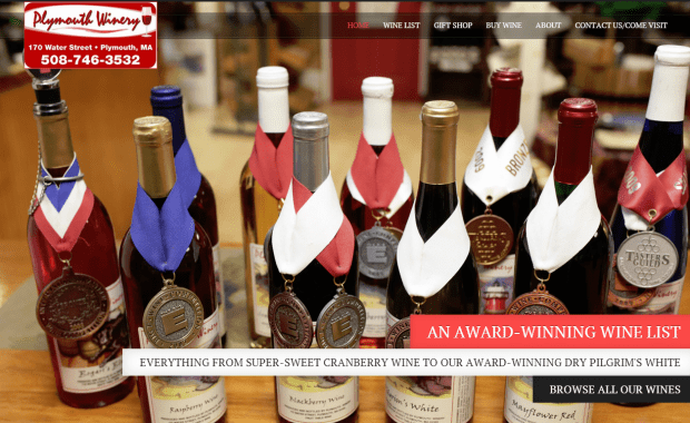The new Plymouth Winery website, powered by Wordpress and HTML5!