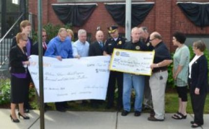 Golden LivingCenters and St. Michael's Law Enforcement Organization donated $1,500 to the Melrose Police Department's Melrose Alert Community Response Program on Sept. 25. (Courtesy Photo)