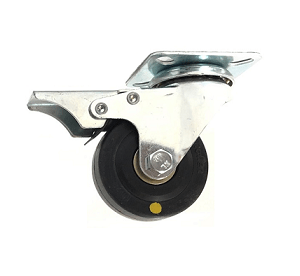 221 Series - Black Conductive (ESD) & Grey Poly urethane (PU) Top Plate Castors