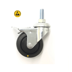 370 Series - Black Conductive (ESD) Bole Hole Castors