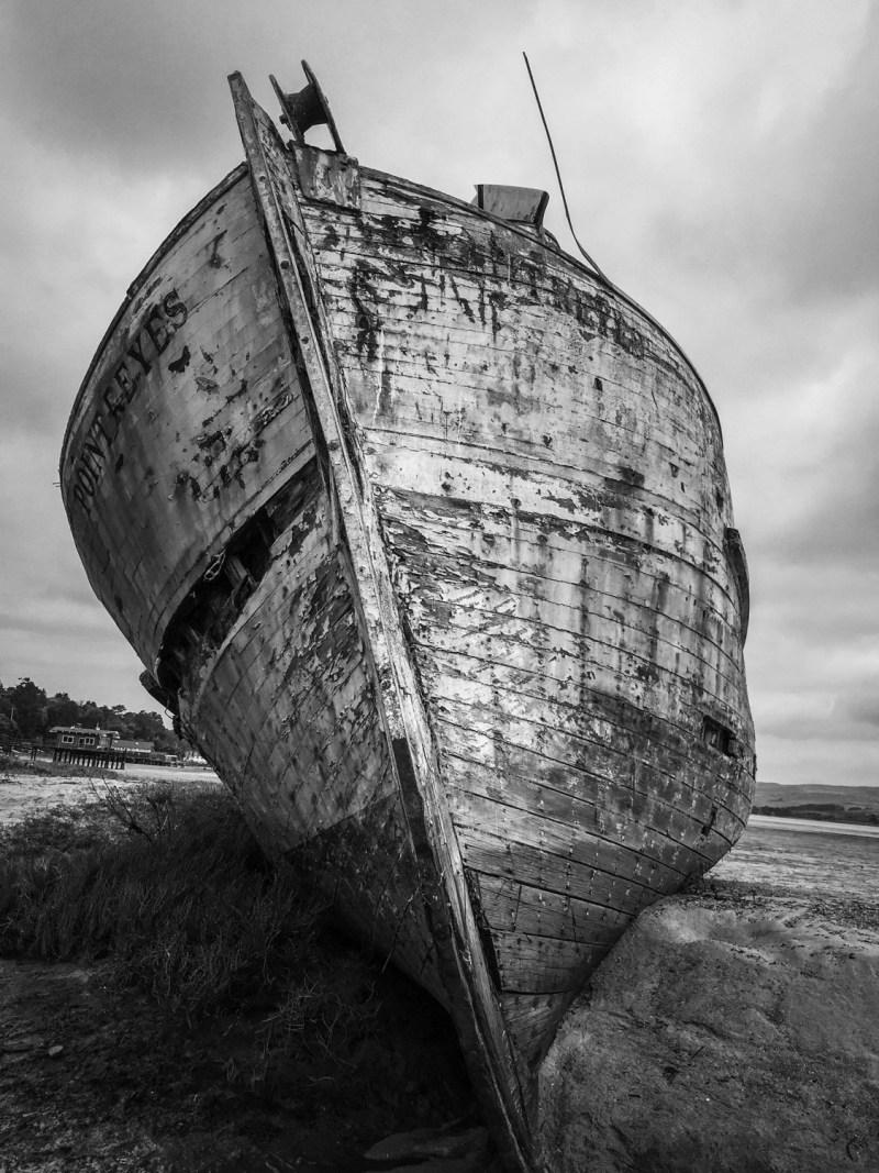 Point Reyes Boat B&W
