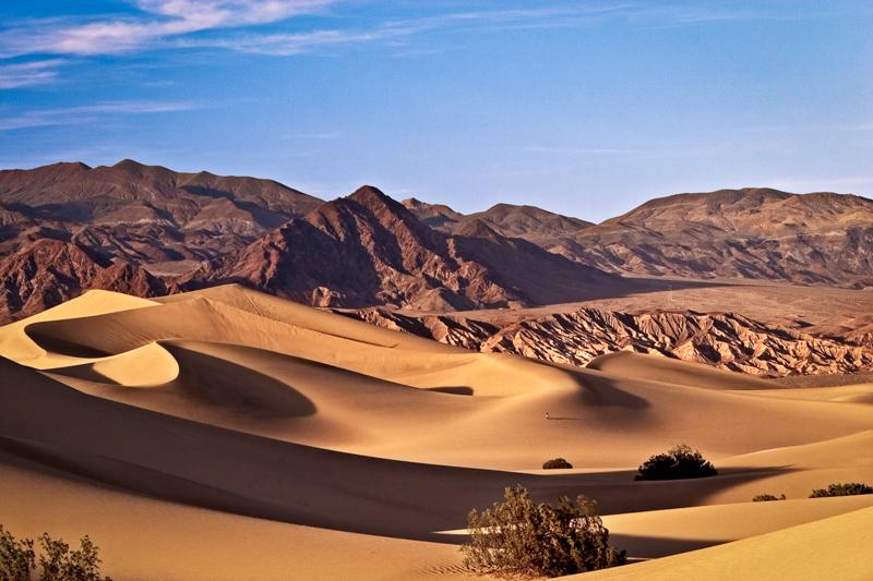 Mesquite dunes Death Valley California