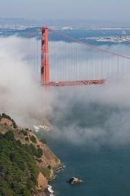 Daylight fog Golden Gate Bridge