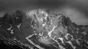 Snow on a mountain with unusual light Jasper National Park - Canada