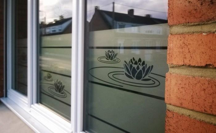 Stickers décoratif pour fenêtres motif nénuphars