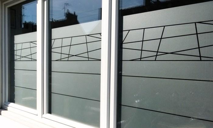 Stickers décoratif pour fenêtre motif line (lignes) pour des fenêtres design