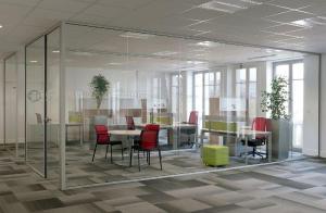 bureaux avec cloison vitrées