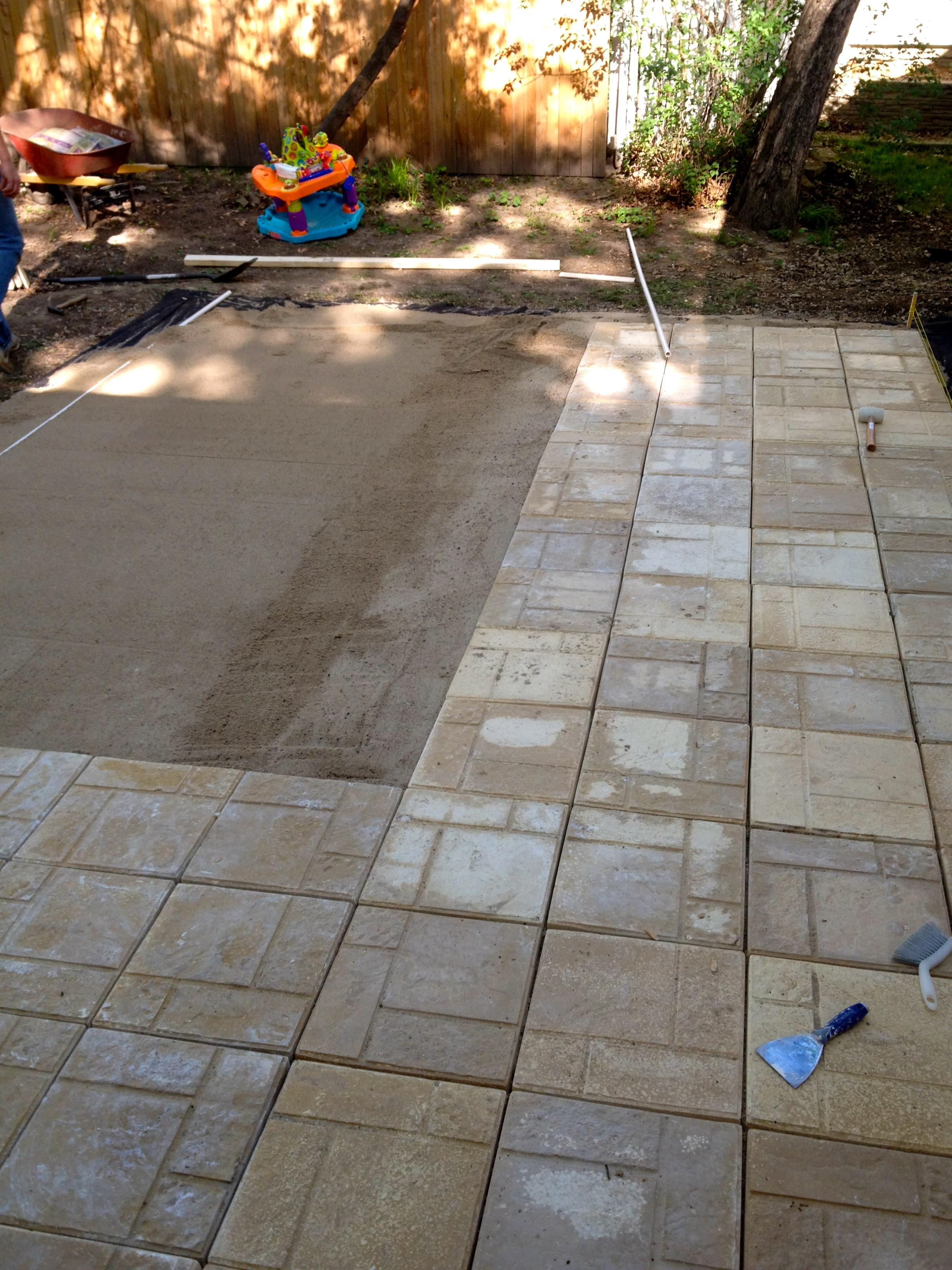 DIY Paver Patio | The Suburban Urbanist on Diy Concrete Patio Ideas id=61191