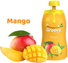 Yellow Groovy Mango fruits juice