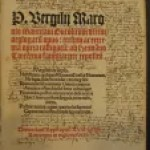Title page of 1513 copy of Virgil's works. By permission of the New York Society Library.