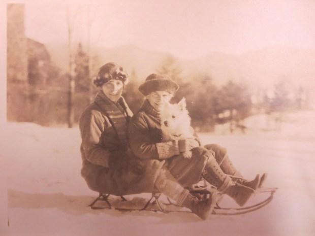 Gildersleeve and Spurgeon toboggan