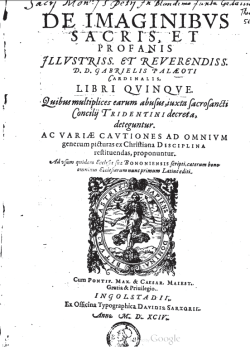 The 1594 Latin edition of Paleotti's discourse (Google Books).