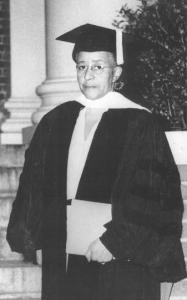 Delaney in 1950, receiving an honorary doctorate from Atlanta University. Wikimedia Commons.