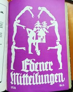 Cover of Edener Mitteilungen, journal of Eden Settlement, 1931