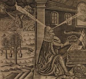The frontispiece to the 'Eikon Basilke' (1649)