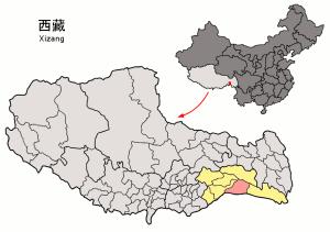 Location_of_Mêdog_within_Xizang_(China)