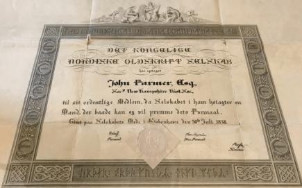 John farmer certificate
