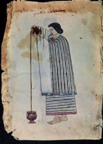 [3] aztec woman pouring chocolate, codex tudela (late sixteenth century). museo de américa, madrid. [page 2]