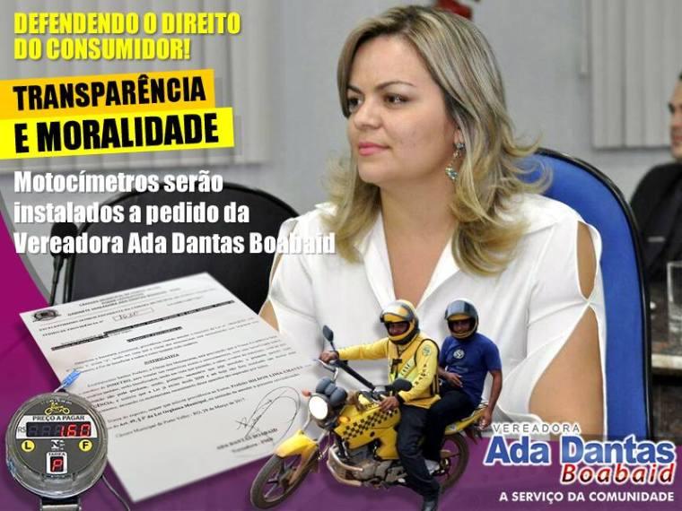 Motocímetros serão instalados a pedido da Vereadora Ada Dantas Boabaid