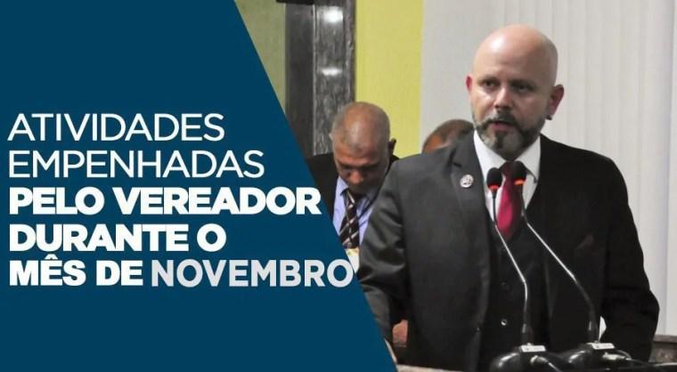 ATUAÇÃO – Atividades empenhadas pelo vereador Aleks Palitot durante o mês de Novembro