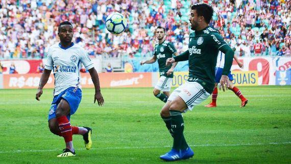 Palmeiras busca empate contra o Bahia com gol de Felipe Melo