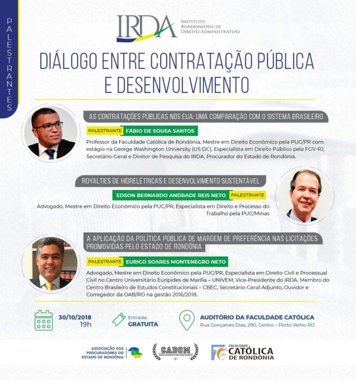 IRDA – Evento promove o aprimoramento, a difusão é o ensino de Direito Administrativo