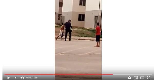 EXEMPLO – Cabo da PM joga futebol com crianças no Orgulho do Madeira e viraliza na rede