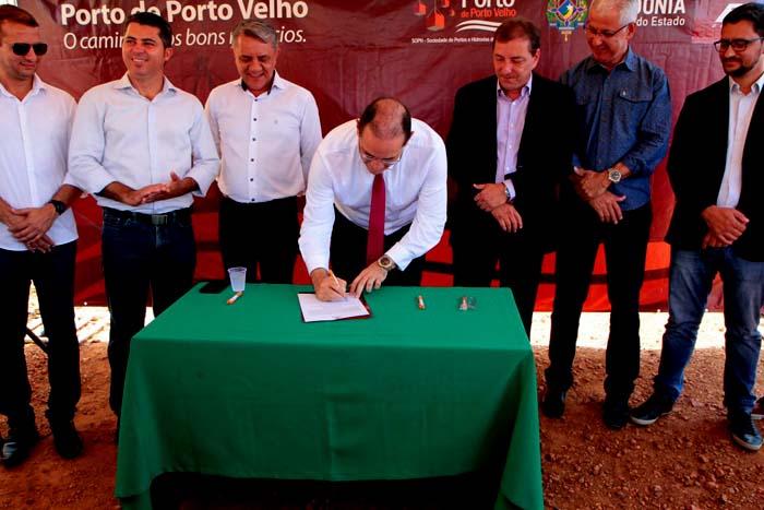Assinada ordem de serviço para nova sede administrativa do Porto Público da capital