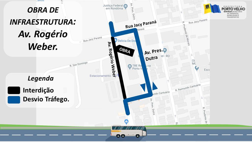 Prefeitura interdita avenida Rogério Weber para conter desbarrancamento
