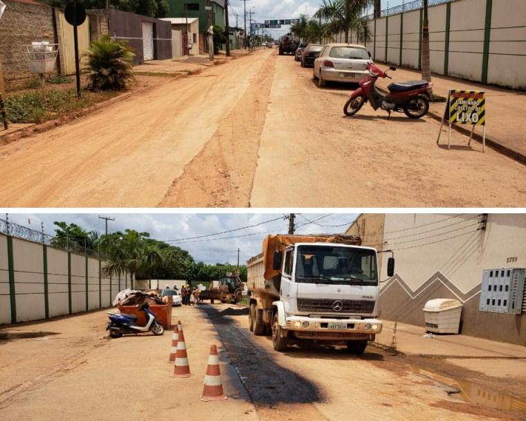 Condomínio e Administradora forçam Caerd a tampar buracos em rua da Zona Sul
