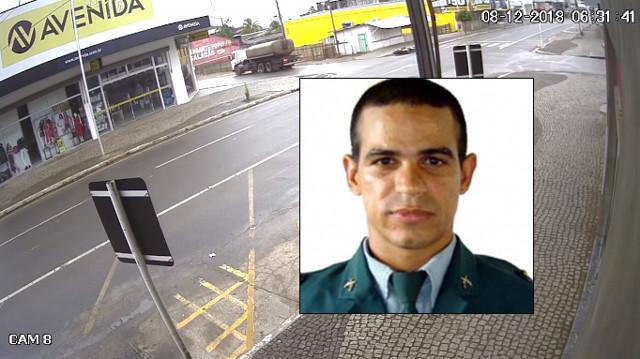 Policial militar morre após colidir moto em caminhão – VÍDEO