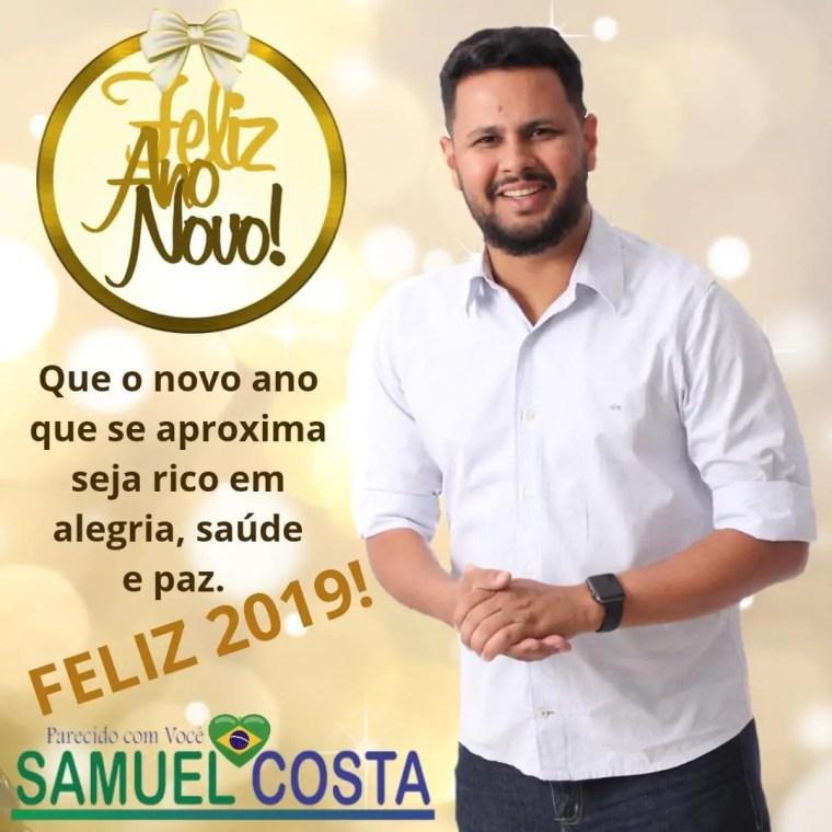 Samuel Costa deseja Boas Festas e um 2019 de muito sucesso a todos os portovelhenses