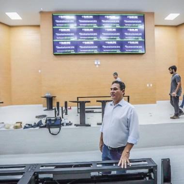 Maurão verifica últimos ajustes na nova sede da Assembleia Legislativa, que será inaugurada dia 22