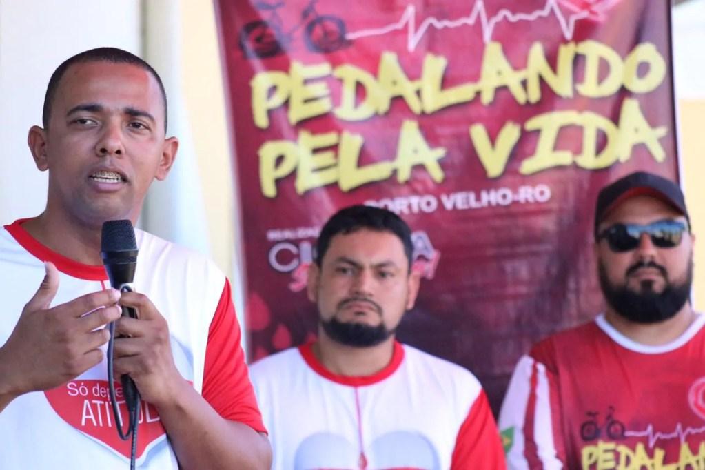 Cabo Jhony Paixão participa do lançamento da campanha Pedalando pela Vida