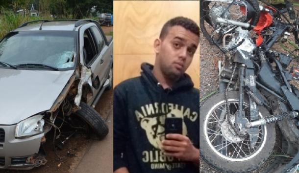 Motociclista morre ao colidir de frente com Fiat Strada na BR 364