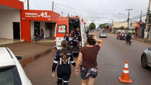 Acidente provoca engavetamento de sete veículos no centro da capital