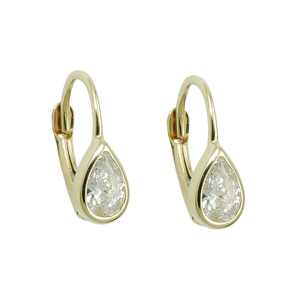 Droppformade örhängen i 9 karats guld – JHolt Smycken 775412c2c723c