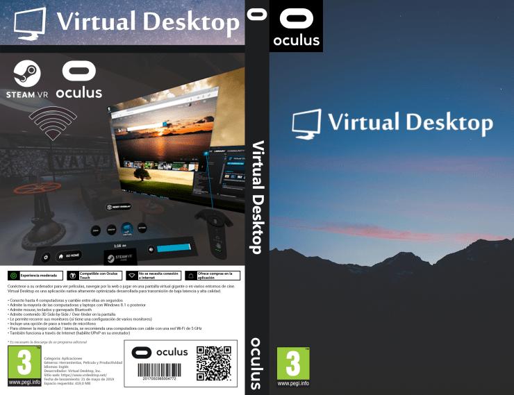 Portada Virtual Desktop VR - Oculus