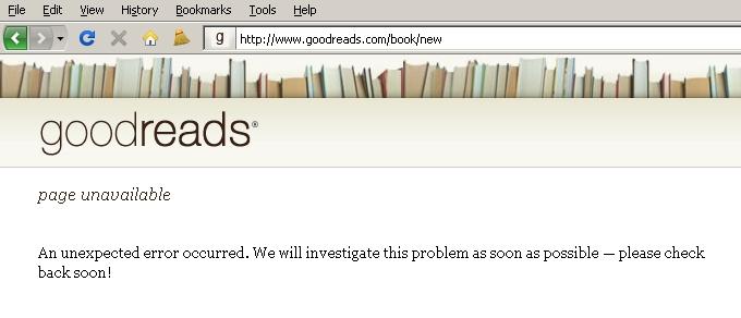 GoodReads.com - Add books page