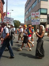 """Ottawa Senior Pride being """"loud and proud."""" Photo by Brianna Harris"""