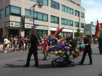 Paramedics getting in on the pride fun. Photo by Brianna Harris