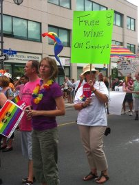 Churches also joined in with their acceptance and support. Photo by Brianna Harris