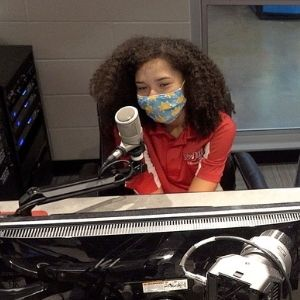 Girl in the Radio and TV Station